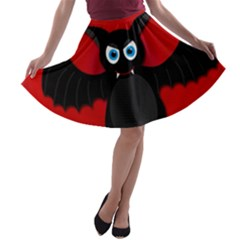 Halloween bat A-line Skater Skirt