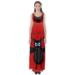 Halloween Bat Empire Waist Maxi Dress
