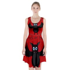 Halloween Bat Racerback Midi Dress
