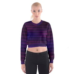 Abstract Lines Pattern Fractal Women s Cropped Sweatshirt