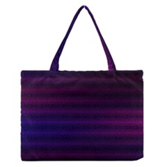 Abstract Lines Pattern Fractal Medium Zipper Tote Bag