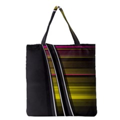 Abstract Multicolor Vectors Flow Lines Graphics Grocery Tote Bag