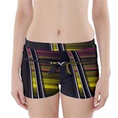 Abstract Multicolor Vectors Flow Lines Graphics Boyleg Bikini Wrap Bottoms