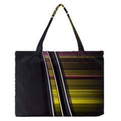Abstract Multicolor Vectors Flow Lines Graphics Medium Zipper Tote Bag