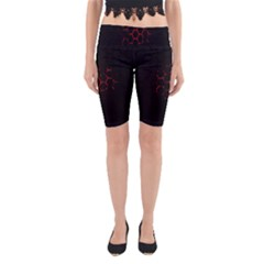 Abstract Pattern Honeycomb Yoga Cropped Leggings