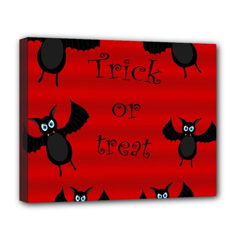 Halloween bats  Deluxe Canvas 20  x 16
