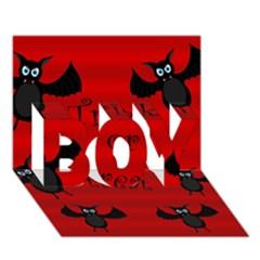 Halloween bats  BOY 3D Greeting Card (7x5)
