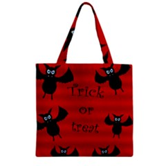 Halloween bats  Zipper Grocery Tote Bag