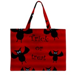 Halloween bats  Medium Zipper Tote Bag