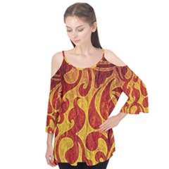 Abstract Pattern Flutter Tees