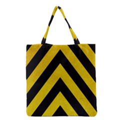 Construction Hazard Stripes Grocery Tote Bag
