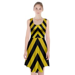 Construction Hazard Stripes Racerback Midi Dress