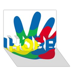 Creativity Painted Hand Copy Hope 3d Greeting Card (7x5)