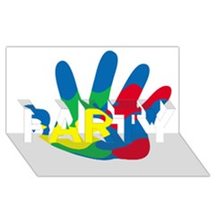 Creativity Painted Hand Copy Party 3d Greeting Card (8x4)