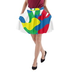 Creativity Painted Hand Copy A Line Pocket Skirt