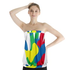 Creativity Painted Hand Copy Strapless Top