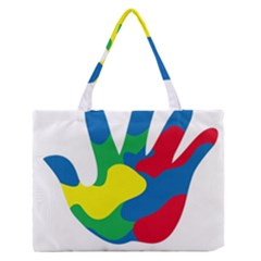 Creativity Painted Hand Copy Medium Zipper Tote Bag