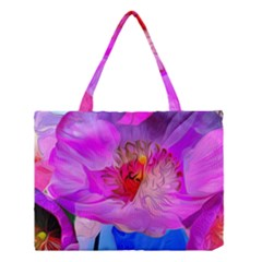 Abstract Poppy Flowers Medium Tote Bag