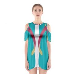 Flip Flop Slippers Copy Cutout Shoulder Dress