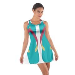 Flip Flop Slippers Copy Cotton Racerback Dress
