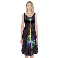 Abstract Radar Midi Sleeveless Dress