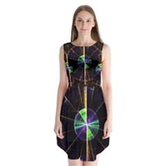 Abstract Radar Sleeveless Chiffon Dress