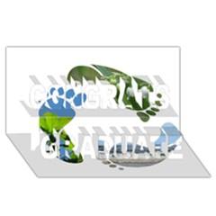 Footprint Recycle Sign Congrats Graduate 3d Greeting Card (8x4)