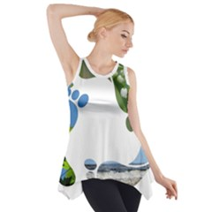 Footprint Recycle Sign Side Drop Tank Tunic