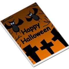 Happy Halloween - bats on the cemetery Large Memo Pads