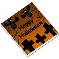 Happy Halloween - bats on the cemetery Small Memo Pads