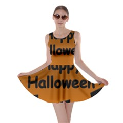 Happy Halloween - bats on the cemetery Skater Dress