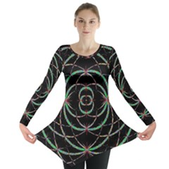 Abstract Spider Web Long Sleeve Tunic