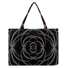 Abstract Spider Web Medium Zipper Tote Bag