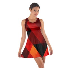 Abstract Triangle Wallpaper Cotton Racerback Dress