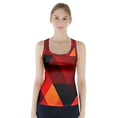 Abstract Triangle Wallpaper Racer Back Sports Top