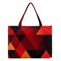 Abstract Triangle Wallpaper Medium Tote Bag