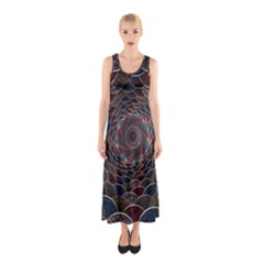 Abstraction Balls Lights 3d Volume Colorful Sleeveless Maxi Dress