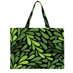 Free Green Nature Leaves Seamless Large Tote Bag