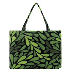 Free Green Nature Leaves Seamless Medium Tote Bag
