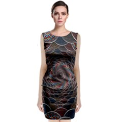 Abstraction Balls Lights 3d Volume Colorful Classic Sleeveless Midi Dress