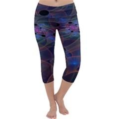 Abstraction Fractal Art Capri Yoga Leggings