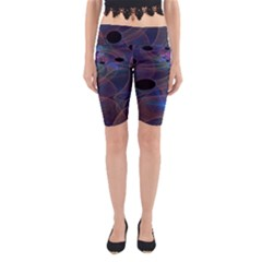 Abstraction Fractal Art Yoga Cropped Leggings