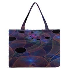 Abstraction Fractal Art Medium Zipper Tote Bag