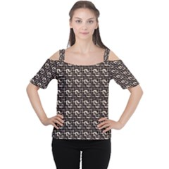 African Ethnic Patterns Women s Cutout Shoulder Tee