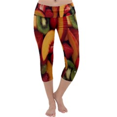 Fruit Salad Capri Yoga Leggings