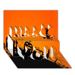 Halloween Day Miss You 3d Greeting Card (7x5)