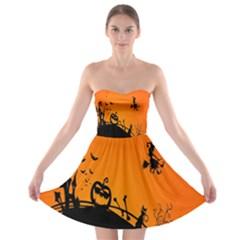 Halloween Day Strapless Bra Top Dress