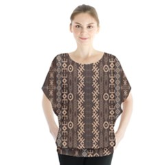 African Style Vector Pattern Blouse