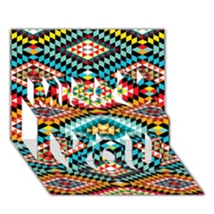 African Tribal Patterns Miss You 3D Greeting Card (7x5)