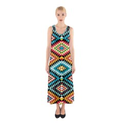 African Tribal Patterns Sleeveless Maxi Dress